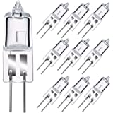 Ampoules Halogènes GMY G4 10W 12V Dimmable Base Bi-Pin Capsule Transparente 2800K Blanc Chaud 10 Pack