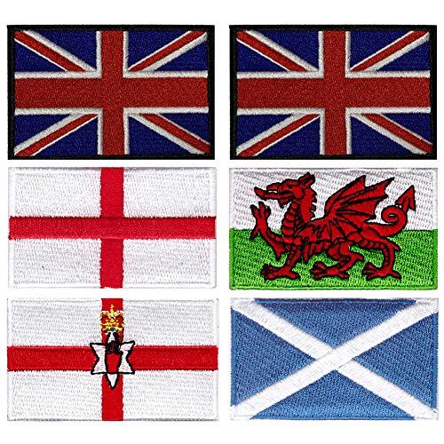 Parches bordados bandera Irlanda Norte Escocia Inglaterra