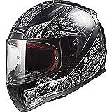 LS2fF353Rapide Cripta Casque Moto Intégral intégrales-Noir Blanc XXXL (65-66cm)