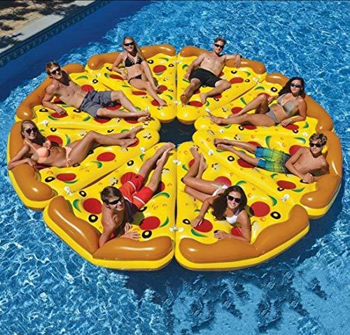 Gonfiabile fetta di pizza sala gigante pizza piscina sedile galleggiante estate all'aperto festa spiaggia zattera giocattolo per bambini e adulti 180 * 135 * 30cm