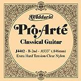 D'Addario J4402 Pro Arte Nylon Einzelsaite 0,084 cm (0,033 Zoll), B-2nd