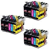 JIMIGO LC123 Druckerpatronen Ersatz für Brother LC123 Patronen Kompatibel mit Brother DCP-J4110DW, MFC-J470DW, MFC-J6720DW, DCP-J132W, MFC-J6520DW, MFC-J6920DW, MFC-J4510DW
