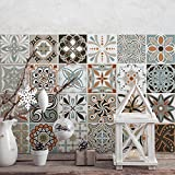24 Pieces 10x10 cm - PS00009 Adhesivo Decorativo para Azulejos para baño y Cocina Stickers Azulejos - Made in Italy - Stickers Design