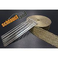 30m Titan Hitzeschutzband 50mm 1400/°C 10 Kabelbinder SCHLAUCHLAND*** Auspuffband Thermoband Kr/ümmerband Heat Wrap Basaltfaser Isolierband Hitzeschutz