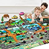 omdoxs Kids Taffic Play Alfombras, Animal Road Rug, Home Decor Baby Gyms & Playmats Juguetes...