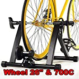 Popamazing Bike Bicycle Magnetic Trainer Turbo Trainer Indoor Stationary Exercise Stand Steel Frame