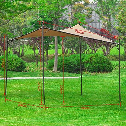 SoBuy OSS01 Freestanding Canopy Gazebo Awning Outdoor