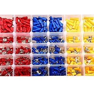 SLD AllBeauty Nadeln sortiert Isolierte Elektrische Draht Terminals Crimp Stecker Kit, Spaten Butt Ring Bullet Set