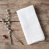 Alemira 1295 Satz von 2 Leinen Dichten, 245 g / m2, Geschirrtücher, 50 x 70 cm, weiß