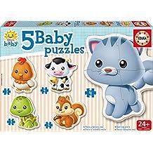Educa Borrás 13473 - 5 Puzzles de animales baby