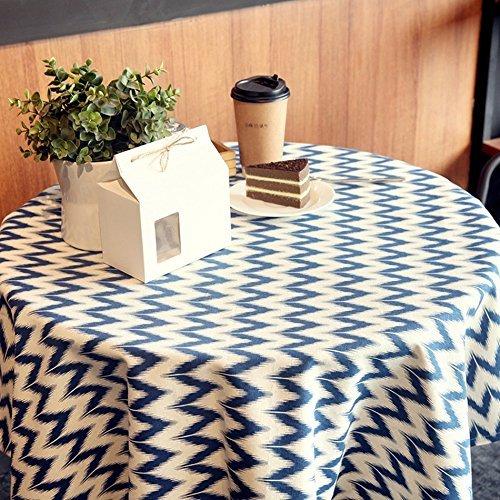 SED Streifen-Rechteck-Muster-Flachs-Tischdecke Cottontableclcl Esszimmer-Tabellen-Leinen-Einzigartiges zufälliges speisendes nordisches Einfaches längliches,140 * 140 cm -