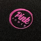 Autoteppich-Stylers ATSQ100PP000266 Passform Fußmatten mit Stick Pink Power (Ladies Edition) in Pink und Rand in Pink