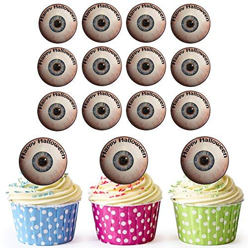 oween Augen - Essbare Cupcake Topper / Kuchendekorationen (24 Stück) (Halloween-lebensmittel Streich Ideen)