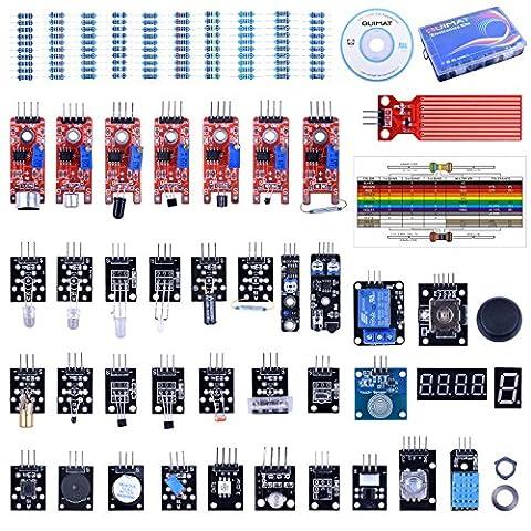 Quimat 2017 Update Version 39 Sensormodul, Starter Kit Roboterprojekte für Arduino UNO R3 Raspberry Pi 3 2 Mega Due Nano Arduino Programmierung mit (3 Modul Kit)
