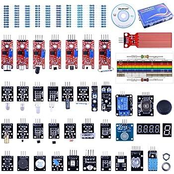 Quimat Capteur Arduino Kit et Raspberry Pi 3 2 B B+ ,Upgraded 39 en 1 Kit de Capteur Module pour UNO R3 MEGA 2560 Nano Sensor Module Kit de Démarrage avec Tutoriels