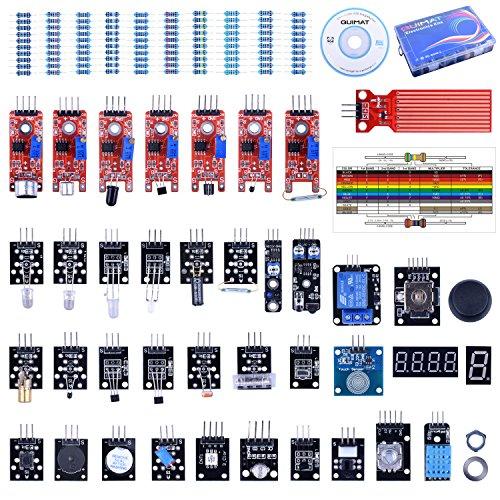 Quimat 39 Sensormodul Starter Kit Roboterprojekt mit ArduinoIDE R3 Raspberry Pi 4 3 2 Mega Due Nano mit Tutorials