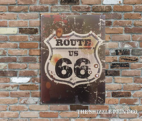 Retro-Metallschild Route 66 US Logo, 16 x 11