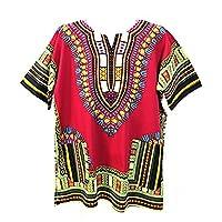 Vipada Handmade Men Dashiki Shirt African Caftan Maroon XXXL