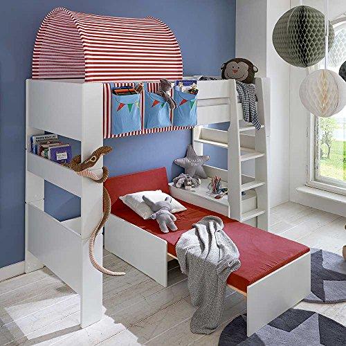 Kinderhochbett mit Tunnel Zirkus Design (4-teilig) Pharao24