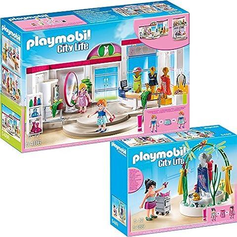 PLAYMOBIL® City Life shopping Set en 2 parties 5486 5489