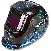 Aufun Automatik Schweißhelm Solar Schweißhelm Schweißschild Schweißmaske Schweißschirm mit großes Sichtfeld für alle gängigen Schweißtechniken - Blitz