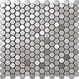 3D Effekt Runde Form Edelstahl Mosaik Fliesen Handwerk Lieferant hochwertiger 30x30cm Metall Dekor Mosaik für Wand, Farben optional, SA021 (300x300mm/Stück, SA021-2)
