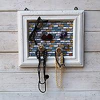 Portagioielli ed Organizer, Porta orecchini fatto a mano, Shabby chic, Porta orecchini a muro, Portagioie, Misura SMALL