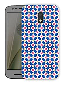 "Humor Gang Seamless star pattern Printed Designer Mobile Back Cover For ""Motorola Moto E3 Power"" (3D, Matte Finish, Premium Quality, Protective Snap On Slim Hard Phone Case, Multi Color)"