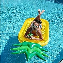 ZLYFA El Flotador Inflable De La Piscina De La Piña 190CM Juega El Colchón Inflable De La Playa del Círculo De La Natación del Anillo De La Natación Que Nada