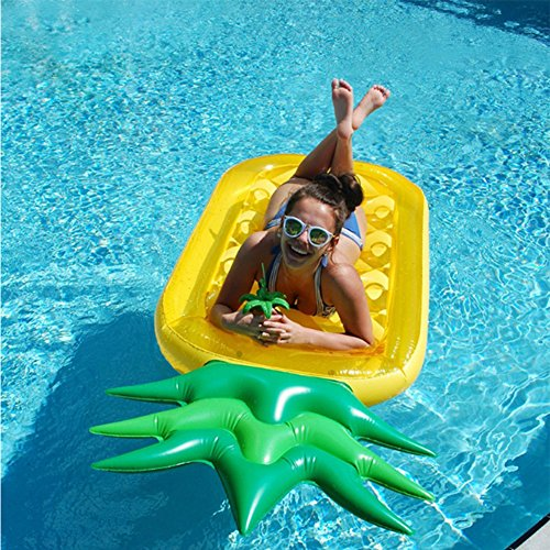 ZLYFA Aufblasbares Ananas-riesiges Pool-Schwimmen-Spiel der Aufblasbaren Ananas-190C Schwimmen Ring-Kreis-Strand-aufblasbare Matratze