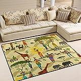 JSTEL ingbags Super Weich Modern Afrika AIT, EIN Wohnzimmer Teppiche Teppich Schlafzimmer Teppich für Kinder Play massiv Home Decorator Boden Teppich und Teppiche 160x 121,9cm, Multi, 80 x 58 Inch