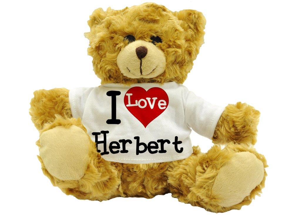 I love Herbert–Cute Plüsch Teddy Bär Name Geschenk (Höhe ca. 22cm) 3