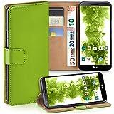 MoEx LG G2 Hülle Grün mit Karten-Fach [OneFlow 360° Book