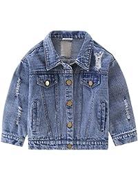 1511319137b76 LSERVER Fille Jean Manteau Blouson Cowboy Veste d automne Printemps Costume  Tenues Outwear Jacket Manches