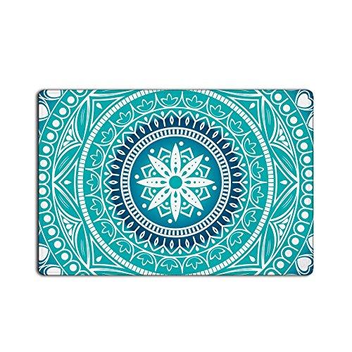Liuzhis Hippie Bohemian Mandala Designs Fußmatte, Rutschfeste Eingang Teppich Bodenmatten Indoor-/Vorderseite Tür/Badezimmer/Schlafzimmer 59,9cm (L) X 39,9cm (W)