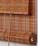 WUFENG Hecho A Medida Persiana De Bambú Panel De Cortina De Bambú Cortinas Anti-insectos Para Puertas Balcón Salón Salón De Té Cortina De Sol cortina ( Color : A , Tamaño : 90*120cm )