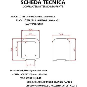 Nero Ceramica Aliseo Prezzi.Copriwater Per Nero Ceramica Aliseo Ex Vulcano Termoindurente
