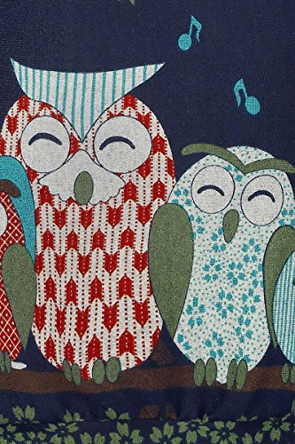 Innocent Owl Tree Kleid blau Blau