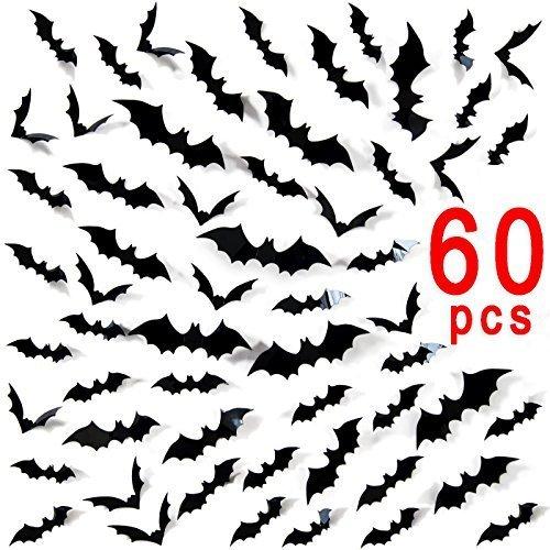 Halloween Fledermaus Wandtattoo 3D Wandsticker Halloween Party Dekoration DIY Home Deko ()