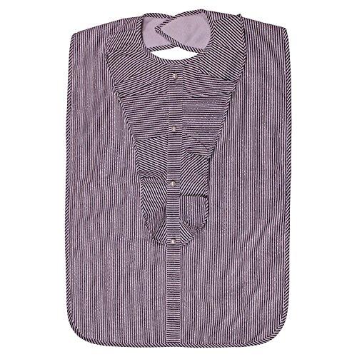 Lady der erwachsenen Lätzchen, wasserfest, Gray Sparkle Stripe von Frenchie Mini Couture (Kunststoff-gewand)