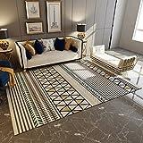 Motif géométrique tapis salon chambre à coucher table à café rectangulaire anti-dérapant tapis maison (Couleur : A, taille : 200x300cm(79x118inch))