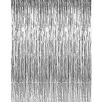 Partyvorhang silver Girlande Lametta 18,5x400cm
