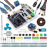 Smraza Für Arduino UNO R3, Arduino Starter Kit mit Breadboard Holder, DC Motor und Detailed Tutorial Kompatible mit Arduino Uno Mega2560 Mega328 Nano v3