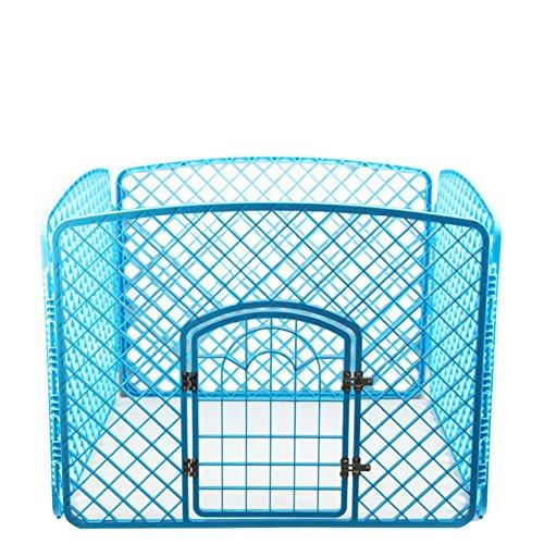 SL&ZX Pet-Zaun,Klappbarer Metall hundebox Hundezaun K?Fig Grün Kunststoff Kennel K?Fig PP Harz Material Pet laufstall-Blau 100x100x77cm(39x39x30inch)