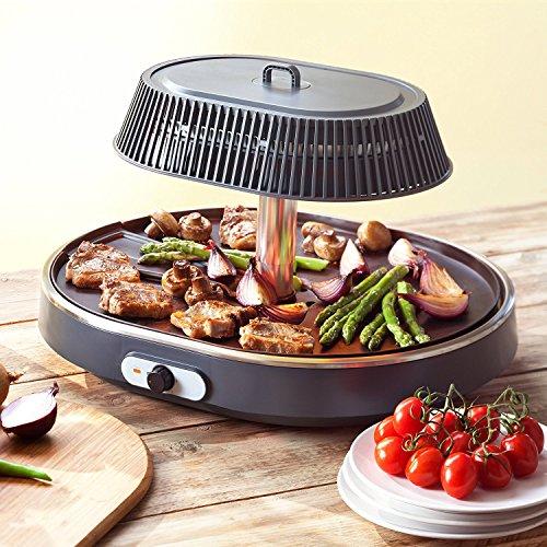 Barbecue Infrarot Grill - Tischgrill - Gesundes Grillen ohne Öl - höhenverstellbar- regelbares Thermostat - Weltneuheit!