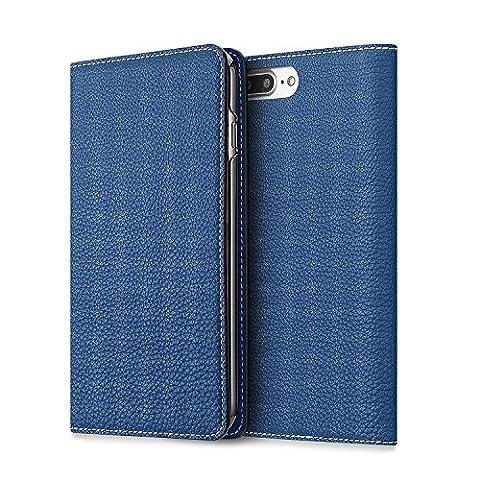 BONAVENTURA iPhone 7/8 Plus Leather Wallet Case (Prestigious European Full-Grain Leather) with Card Slots | Luxury Leather Folio iPhone Cover Case [iPhone 7/8 Plus,