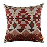 linkwell 45,7x 45,7cm Ethno Muster Design attraktive Jute Kissen Kissen Fall, Textil, CK1017, Einzelbett