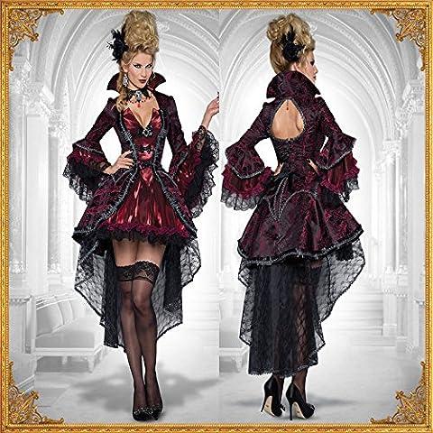 LAVINI COSPLAY-Esmoquin negro trajes de vampiros discoteca drag queen bruja fiesta de disfraces de Halloween vestido de la tentación uniforme