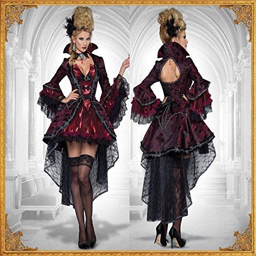 DLucc Tuxedo Schwarz Vampire Kostüme Diskothek Drag Queen Hexe-Halloween- Kostüm-Parteikleid konstante Versuchung