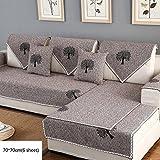 Z&HX-Sofa Set Ecksofa Hanf, Wohnzimmer, Verschleißfest, Anti Verschmutzt/Import (3 & 2 Sitzer),Coffee1,D